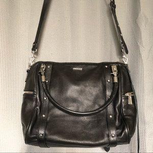 Rebecca Minkoff M.A.B. Leather Satchel Black Studs